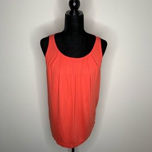 J. Crew Red-Orange Sleeveless Blouse Size Small